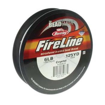 6Lb Beadsmith Burkley 125 Yards Fireline Braided Bead Thread Crystal