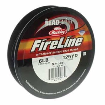 6Lb Beadsmith Burkley 125 Yards Fireline Braided Bead Thread Smoke