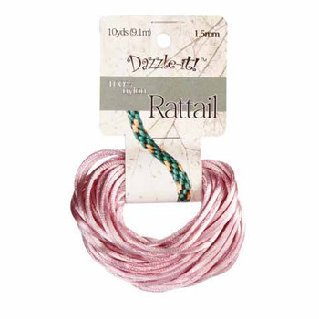 Dazzle-it! Rattail Cord Nylon Light Pink 1.5mm 10 Yards