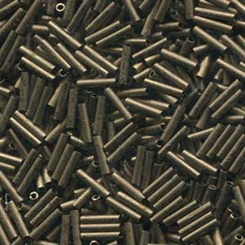 Miyuki Slender Bugle 1.3x6mm Matte Metallic Dk Bronze13 Gram Retail Pack