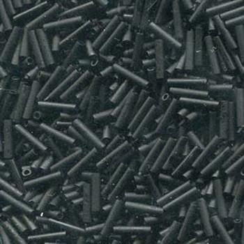 Miyuki Slender Bugle 1.3x6mm Matte Black 13 Gram Retail Pack
