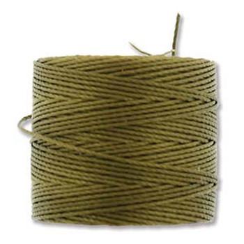 S-Lon Nylon Beading Cord #18 0.5mm Antique Gold 77 Yards  1 Spool