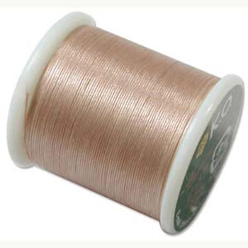 Japanese Nylon Beading Thread By KO For Delica Beads Natural 55  Yards