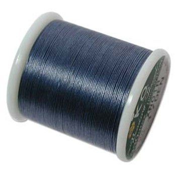 Japanese Nylon Beading Thread By KO For Delica Beads Denim Blue 55  Yards