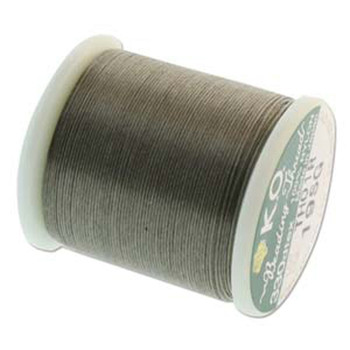 Japanese Nylon Beading Thread By KO For Delica Beads Smoke Green 55  Yards