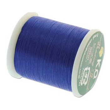Japanese Nylon Beading Thread By KO For Delica Beads Clear Blue 55  Yards