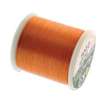Japanese Nylon Beading Thread By KO For Delica Beads Orange 55  Yards