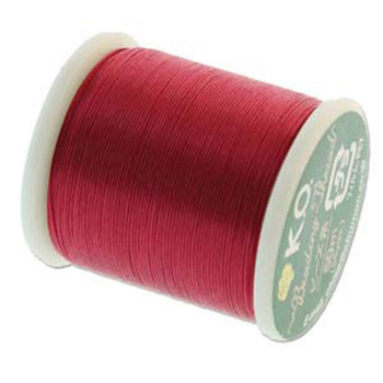 Japanese Nylon Beading Thread By KO For Delica Beads Scarlet Pink 55  Yards