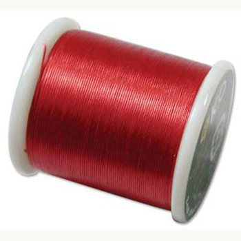 Japanese Nylon Beading Thread By KO For Delica Beads Rich Red 55  Yards