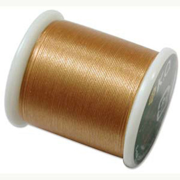 Japanese Nylon Beading Thread By KO For Delica Beads Gold 55  Yards
