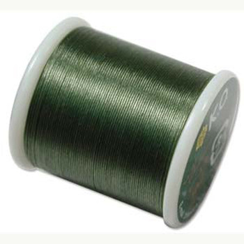Japanese Nylon Beading Thread By KO For Delica Beads Dk Olive 55  Yards