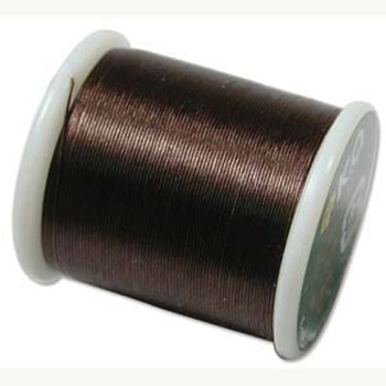 Japanese Nylon Beading Thread By KO For Delica Beads Dk Brown 55  Yards