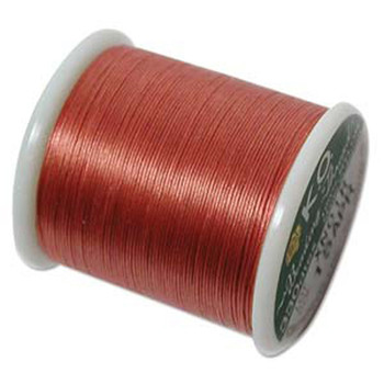 Japanese Nylon Beading Thread By KO For Delica Beads Apricot 55  Yards