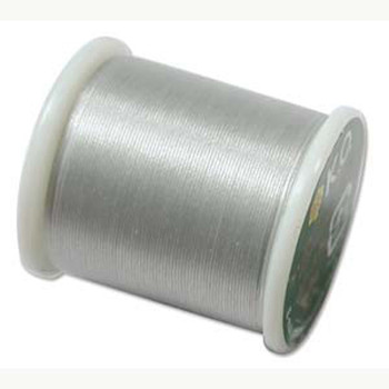 Japanese Nylon Beading Thread By KO For Delica Beads Lt Grey 55  Yards