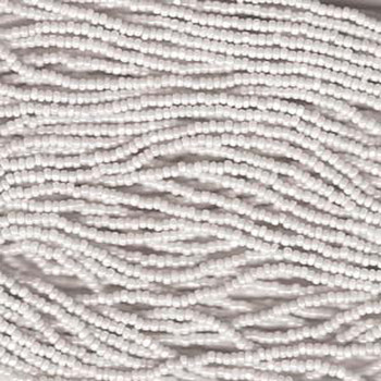 13/0 Czech Glass CHARLOTTE Seed beads CHalk WHITE 6 string Hank aprox 11 Grams