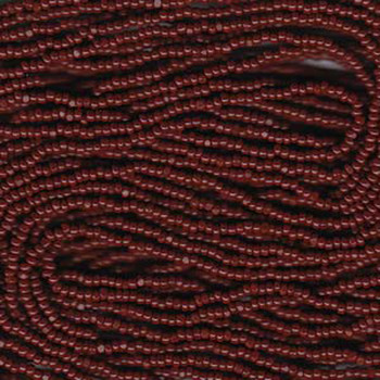 13/0 Czech Glass CHARLOTTE Seed beads BROWN 6 string Hank aprox 11 Grams