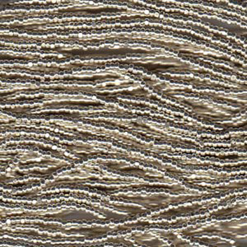 13/0 Czech Glass CHARLOTTE Seed beads Mtallic SILVER 6 string Hank aprox 11 Grams