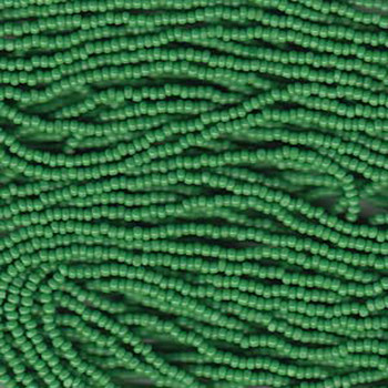 13/0 Czech Glass CHARLOTTE Seed beads GREEN 6 string Hank aprox 11 Grams