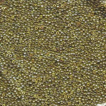 15/0 Round Miyuki Seed Beads TRANS GOLD/OLIVE LSTR 8 Grams approx 2000 beads