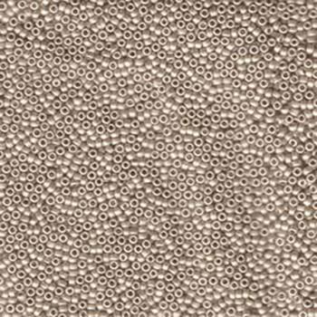 15/0 Round Miyuki Seed Beads MATTE CREAM 8 Grams approx 2000 beads