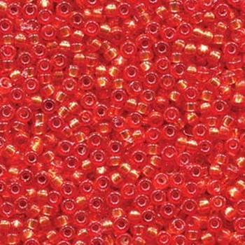 15/0 Round Miyuki Seed Beads  DURACOAT S/L DYED PUMPKIN 8.2 GRAM TUBE