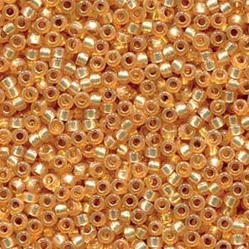 15/0 Round Miyuki Seed Beads  DURACOAT S/L DYED GOLDEN FLAX 8.2 GRAM TUBE