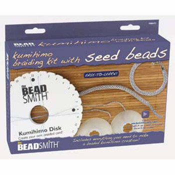 Beadsmith Kumihimo Starter Kit- S-lon With 8/0 seed beads