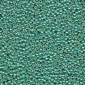 Dark Mint Green 22 Grams Miyuki Round Rocailles 8/0 Seed Bead Duracoat Galvanized
