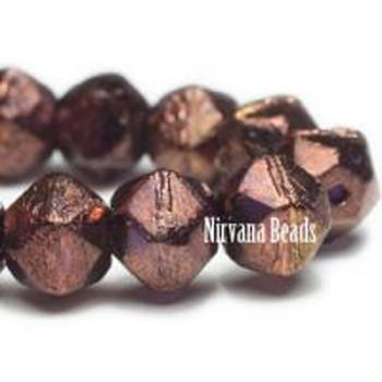 08mm English Cut Beads Bn Dark Bronze Amethyst