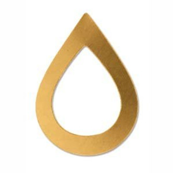 Solid Brass Drop, 47x34mm, Large, Great for Metal Stamping with Design Stamp,...