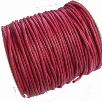 80 Yards Pink Waxed Cotton Cord 2mm To 3mm For Bracelet/ Necklace 80 Meeter 100709253314005