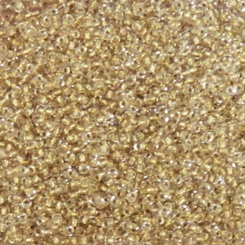 Crystal Gold-Lined Matubo 11/0 (2.1mm)7.5 Grams 0.9mm Hole Czech Glass Seed Beads Approx 750 Beads