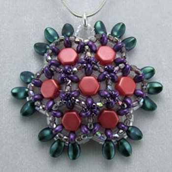 Honeycomb Pendant By Carolyn Cave