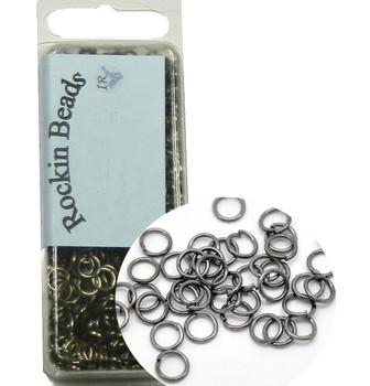 1000 Gunmetal Black Oxide Open Jump Rings Link Connectors 50 Grams 5mm 22 Gauge Rb05521