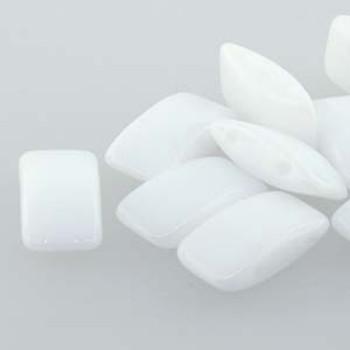 9x17mm 2 Hole Peyote Carrier Czech Glass Beads Bead White 15 Beads