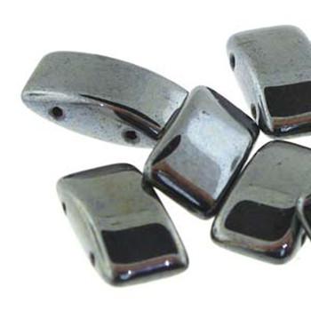 9x17mm 2 Hole Peyote Carrier Czech Glass Beads Bead Gunmetal 15 Beads
