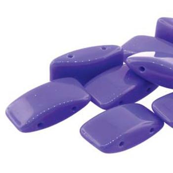 9x17mm 2 Hole Peyote Carrier Czech Glass Beads Bead Blue 15 Beads