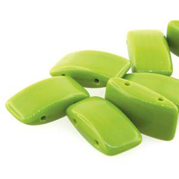 9x17mm 2 Hole Carrier Bead Wasabi 15 Beads