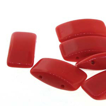 9x17mm 2 Hole Carrier Bead Red 15 Beads