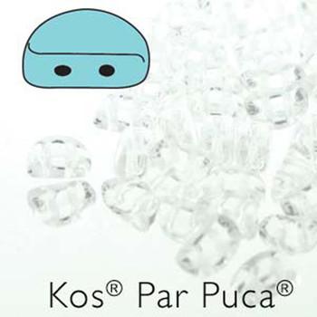Kos Par Puca 2-hole half moon shape 6x3mm Crystal 30 Czech Glass Beads