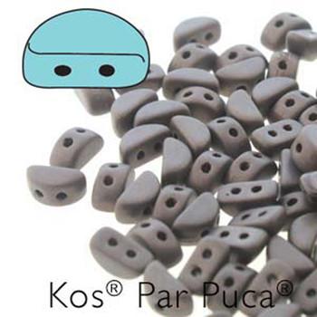 Kos Par Puca 2-hole half moon shape 6x3mm Dark Bronze Mat 30 Czech Glass Beads