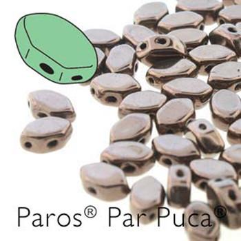 Paros Par Puca 2-hole hexagon shape 7x4mm Dark Bronze  30 Czech Glass Beads
