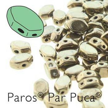 Paros Par Puca 2-hole hexagon shape 7x4mm Dark Gold Bronze  30 Czech Glass Beads