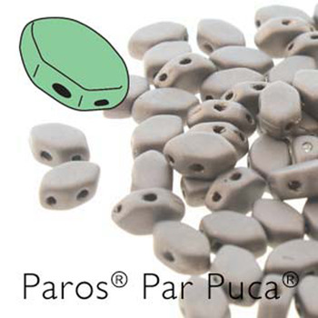 Paros Par Puca 2-hole hexagon shape 7x4mm Dark Bronze Mat  30 Czech Glass Beads