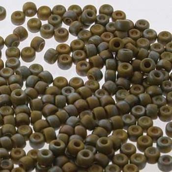 Matubo 2/0 6.1mm 2.1mm Hole Lemon Matte Nebula 19 Grams Approx 90 Pony seed Beads Czech Glass