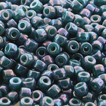 Matubo 2/0 6.1mm 2.1mm Hole Turquoise Green Nebula 19 Grams Approx 90 Pony seed Beads Czech Glass