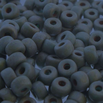 Matubo 2/0 6.1mm 2.1mm Hole Matte Lazure Blue 19 Grams Approx 90 Pony seed Beads Czech Glass