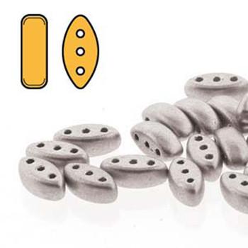 Cali 3 Hole Czech Glass Beads 3X8Mm Bronze Aluminum  Aprox 9 Grams 50-55 Beads