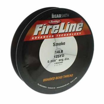 """14Lb Fireline Braided Bead Thread .009"""" .22mm Smoke Grey"""