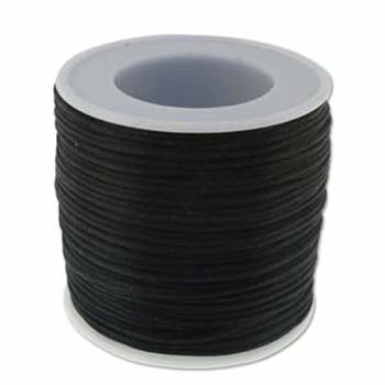 Bulk Rattail Satin Cord  1mm Black 72 Yard/Spool